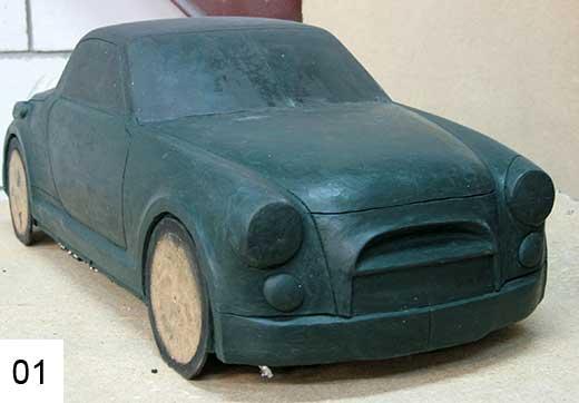 Макет будущего автомобиля.