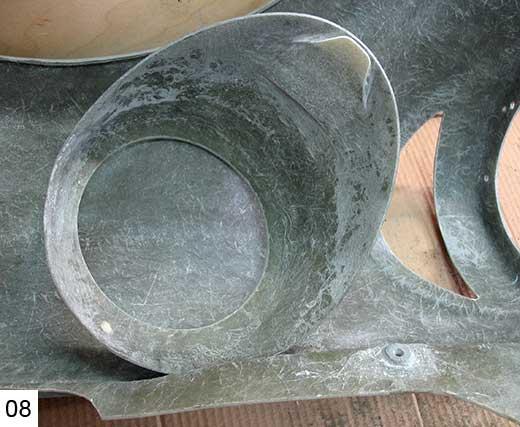 Обработка подклееного язычка